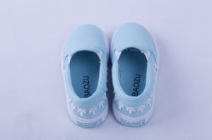 Kids Vulcanzied Shoe Rubber Outsole Canvas Shoes Bz1614 pictures & photos