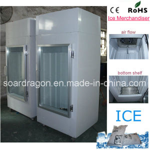 Single Glass Door Bagged Ice Storage Bin DC-300 pictures & photos