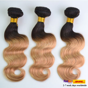Unprocessed Ombre Color Body Wave Brazilian Human Hair Virgin Hair pictures & photos