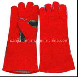 Sanjian Safety Longer Industry Leather Welding Gloves pictures & photos