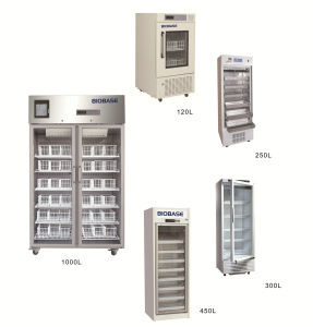Biobase CE Certified 4 Centigrade 120L-1000L Blood Bank Refrigerator pictures & photos