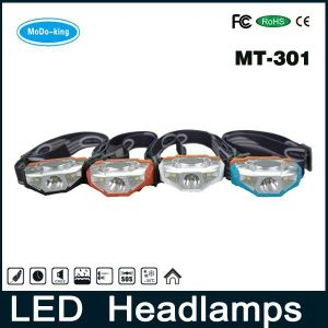 AA Battery CREE LED Headlight Operated Lightest Weight LED Headlamp with High Lumen (MT-301)