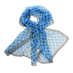 New Fashion Polka Dots Lady′s Silk Scarf pictures & photos