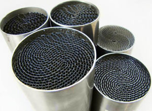 Motorcycle/Vehicle Catalytic Converter Metal Honeycomb Catalyst Substrate pictures & photos