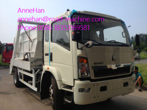 Euroiii 4X2 HOWO Brand Light Hork Arm Garbage Truck 5m3 190HP