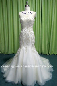 Sweetheart Crystal Beading Bridal Ball Gowns A-Line Wedding Dresses pictures & photos