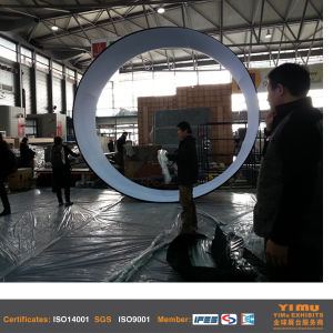 Aluminum Frame Circular Polyester Fabric Hanging Banner Stand pictures & photos