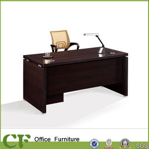 High Black Walnut Brown Classic Office Desk with Italy Design pictures & photos