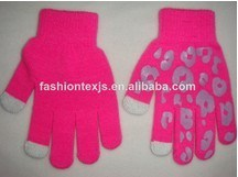 Five Fingers Girl Printed Magic Induction Glove pictures & photos