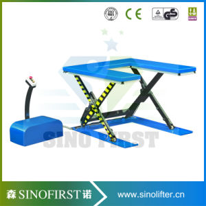 1ton Electric Goods U Type Lift Table Pallet Scissor Lift pictures & photos