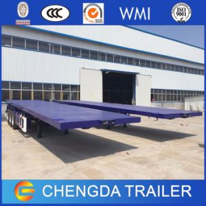 2 Axle 40tons 40FT Flatbed Container Trailer for Sale pictures & photos