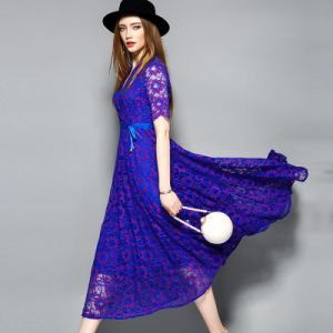 Wholesale Polyester Lace Dress for Women Clothing pictures & photos