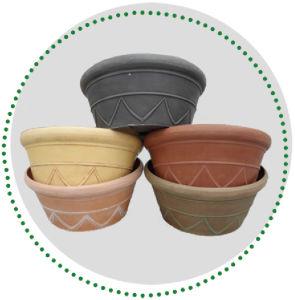 Recycled Plastic Flower Pot - 10EDR30