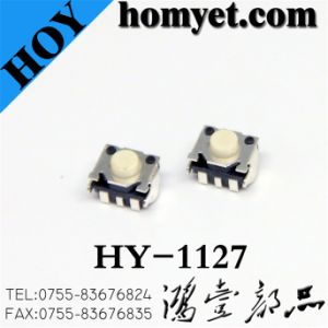 Tact Switch with 4.5*4.5*3.4mm Round Button (HY-1127) pictures & photos