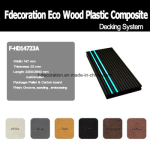 Phosphor Strip Wood Plastic Composite WPC Decking pictures & photos