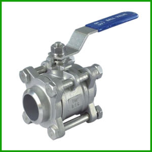 3PCS Forged Steel/A105/Ss316/Ss304/API/ASME/Lever Ball Valve pictures & photos