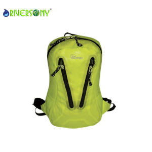Green Nylon PU Waterproof Backpack Bags pictures & photos