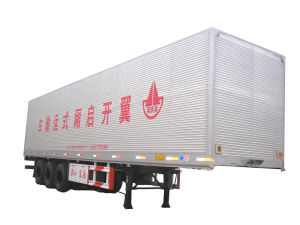 3 Axles Wing Type Box Semi-Trailer pictures & photos