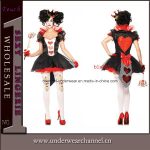 Wholesale Hearts of Queen Fashion Sexy Hallowen Costume (TBLS368) pictures & photos