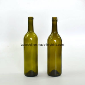 750ml Cork Finish Bordeaux and Burgundy Glass Wine Bottle pictures & photos