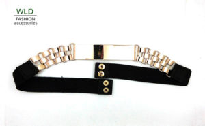 Special Buckle Fashion Elastic PU Belt (KY5220) pictures & photos