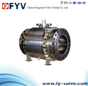 Stainless Steel 3 PC Trunnion Mounted Ball Valve pictures & photos