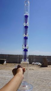24inch Glass Smoking Water Pipe with Four 10-Arm Percs 1450g pictures & photos