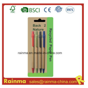 Cheap Paper Ball Pen for School Stationery pictures & photos