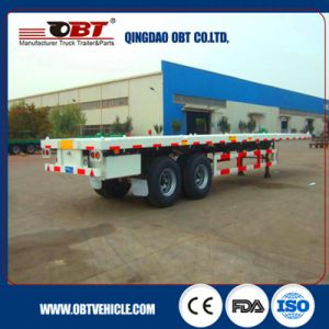 Hot Sale in Africa 40FT 2 Axle Flatbed Semi Trailer pictures & photos