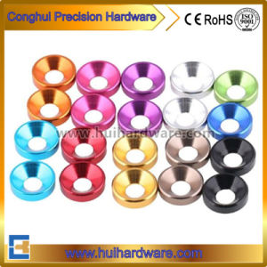 CNC Machining Aluminum Countersunk Washers, Anodized Aluminum Washers pictures & photos