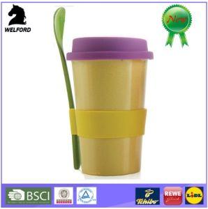 Hot Sale Eco-Friendly Bamboofiber Mug with Spoon