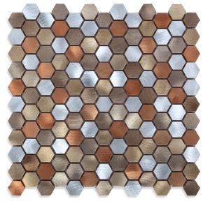2017 New Hexagon Metal Mosaic pictures & photos