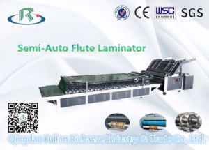 Tissue Lifting Semi-Automatic Carton Flute Board Laminator pictures & photos
