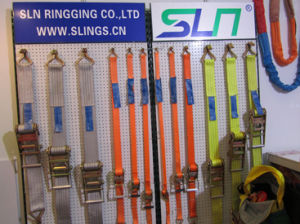 50mm Wide, 6m Max Length Ratchet Straps with Claw Hook Ends pictures & photos