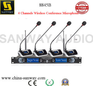 8845b 4 Channel Professional Wireless Microphone System pictures & photos