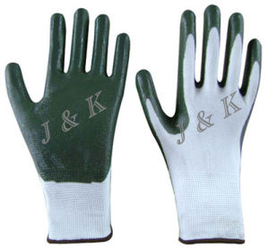 Nylon Nitrile Work Gloves Safety Gloves Protection Gloves pictures & photos