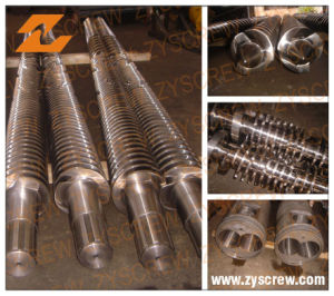 Extruder Conical Double Screw and Cylinder (ZY-001) pictures & photos
