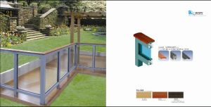 Aluminum Garden Handrail Make of Alu-Wood pictures & photos
