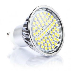Dimmable 230V 60 SMD Glass Covered 4.5 Watt GU10 LED Bulb pictures & photos
