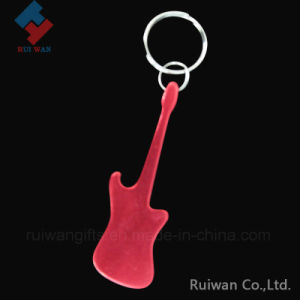 Guitar Shape Aluminum Bottle Opener with Keyring pictures & photos