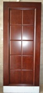 Prefinished Cherry Veneered 10 Panel MDF Door for Village Project. pictures & photos