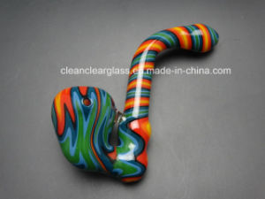 Colored Twisted Rods Heady Glass Sherlock Pipes Hand Pipe Smoking Pipe
