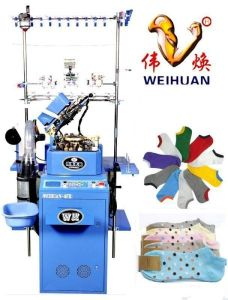 Weihuan (WH) Computeried Single Cylinder Plain Socks Knitting Machine for Baby, Woolen, Rabit Hair Socks, Wh-6f-R pictures & photos