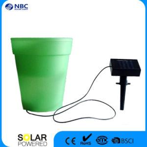 Four Color Optional Plastic Flowerpot Garden Pot with Solar Panel pictures & photos