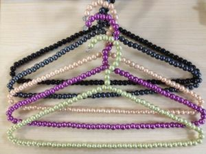 Colorful Pearl and Bead ABS Plastic Hanger for Women Girls pictures & photos