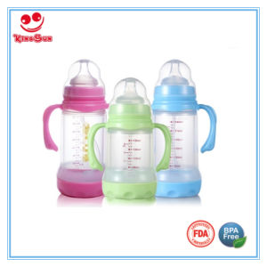 Shock-Proof Wide Neck Glass Milk Bottles 180ml/240ml pictures & photos