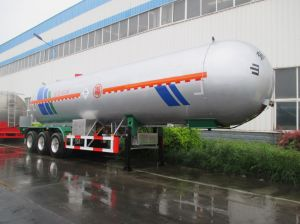 Tri-Axle 60 Cbm 25 Tons LPG Tank Trailer for Sale pictures & photos