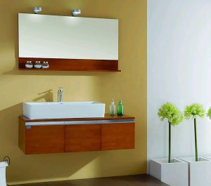 Modern MDF Wood Bathroom Cabinet (ZH021) pictures & photos