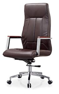 Leather Manager Swivel High Back Office Chair
