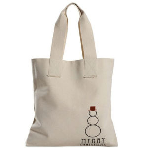 White Canvas Shopping Tote Hand Bags pictures & photos
